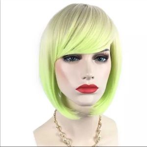 Other - Blonde and neon bob with bangs wig